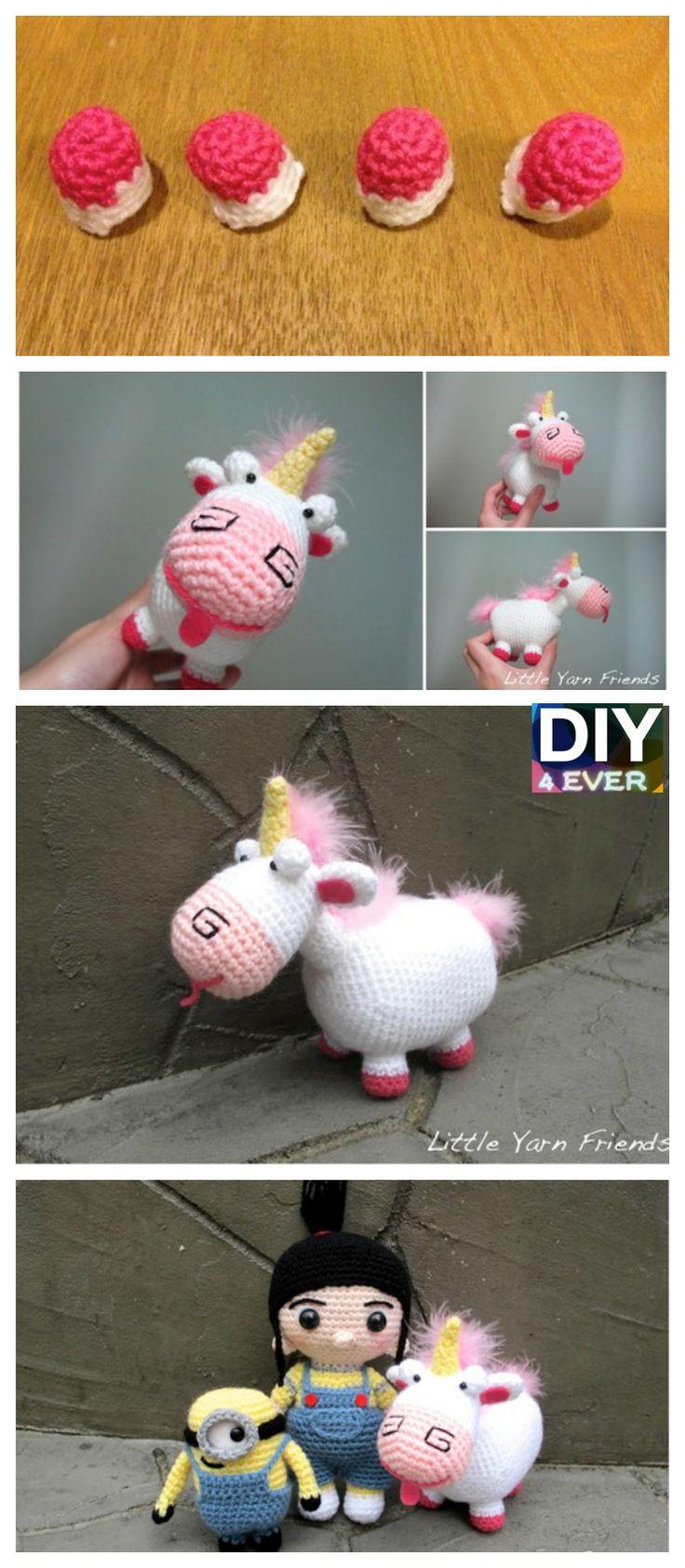 10 Cutest Crochet Unicorn Free Patterns #freepattern