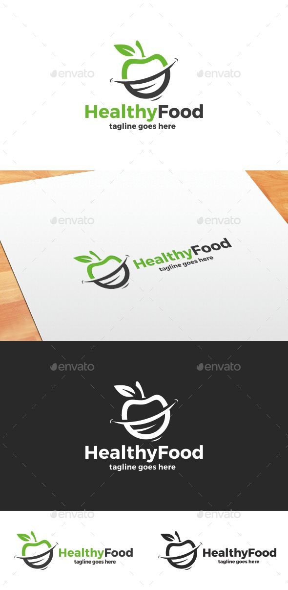 Healthy Food Logo — Vector EPS #mouth #care • Available here → https://graphicriver.net/item/healthy-food-logo/13104678?ref=pxcr