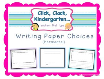 This writing paper bundle provides horizontal paper choices for little writers. These are great for Writing Workshop and writing centers.It includes: 2 cover pages and picture pages with no lines, 1 line, 2 lines, 3 lines, 4 lines and 5 lines. Enjoy! :)Stefanie and Chrissa