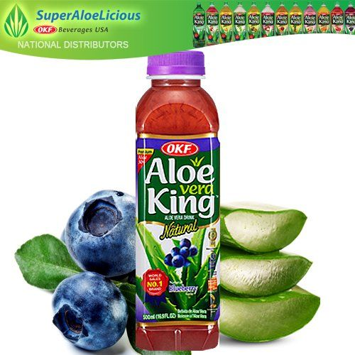 Aloe Vera King Blueberry 16.9oz (10 Pack) Aloe Vera King