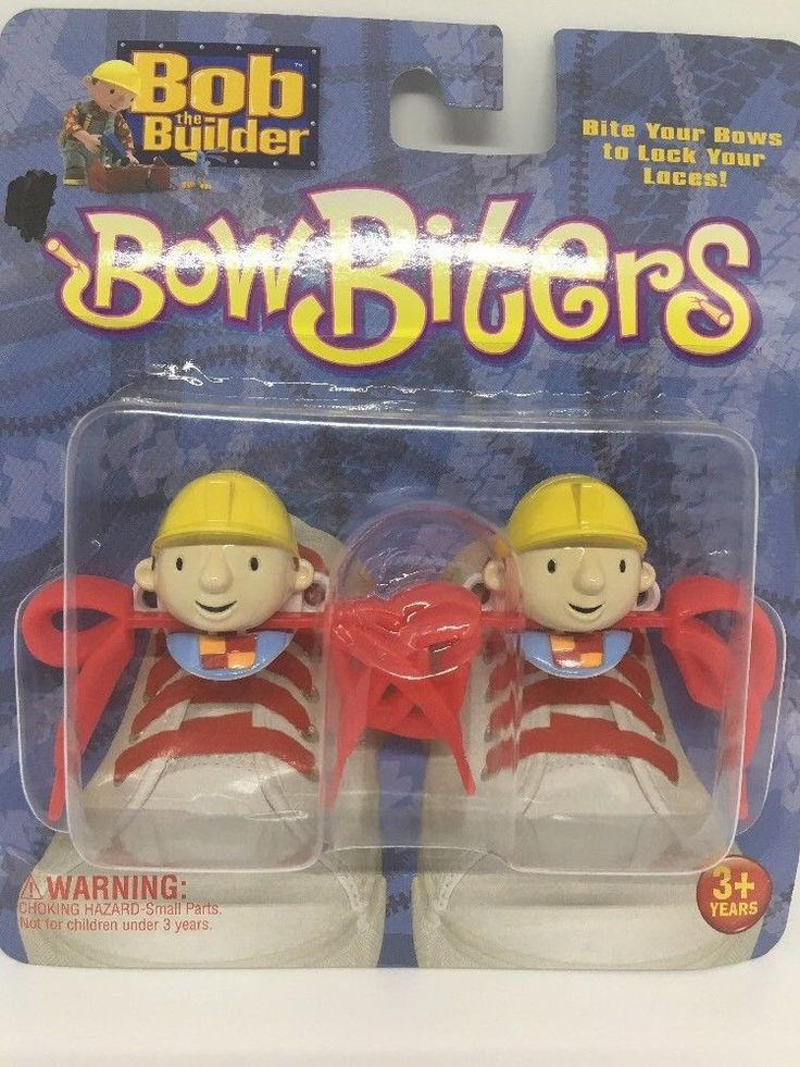 Bob the Builder Bow Biters Lock Your Laces Shoe Sneaker Accessories Kids Gifts  | eBay