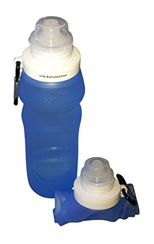 Collapsible Water Bottle BPA Free, Leak Proof Container 20 ounce, Rolls Up When Empty to Save Space (Blue) - inexpensive and healthy alternative to purchasing bottled water http://www.amazon.com/dp/B00OT9FF1C/ref=&keywords=collapsible+water+bottle&m=A7QVYPKUU3BTY