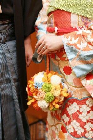 ボールブーケ/花どうらく/ブーケ/http://www.hanadouraku.com/bouquet/wedding/