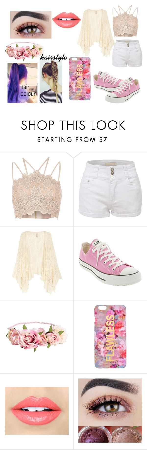 """""""Spring fair outfit"""" by angel-heart-meow on Polyvore featuring River Island, LE3NO, Converse and Fiebiger"""