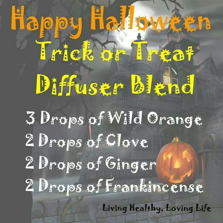 An essential oil diffuser blend for Halloween! Some Wild Orange, Clove, Ginger and Frankincense. Spooooky...