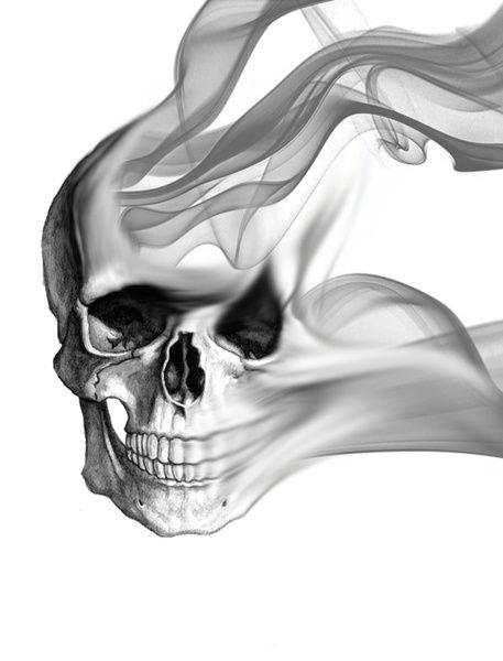 Smokin Skull by NKlein Design