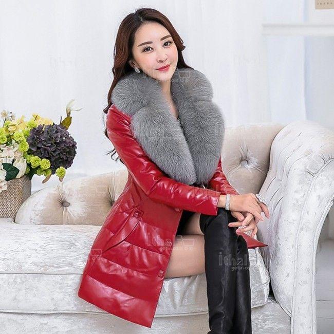 Haining Kürk Yüksek Kaliteli Malzemelerden Üretim Kadın Kürklü Mont Modelleri - 571571 - 26-1