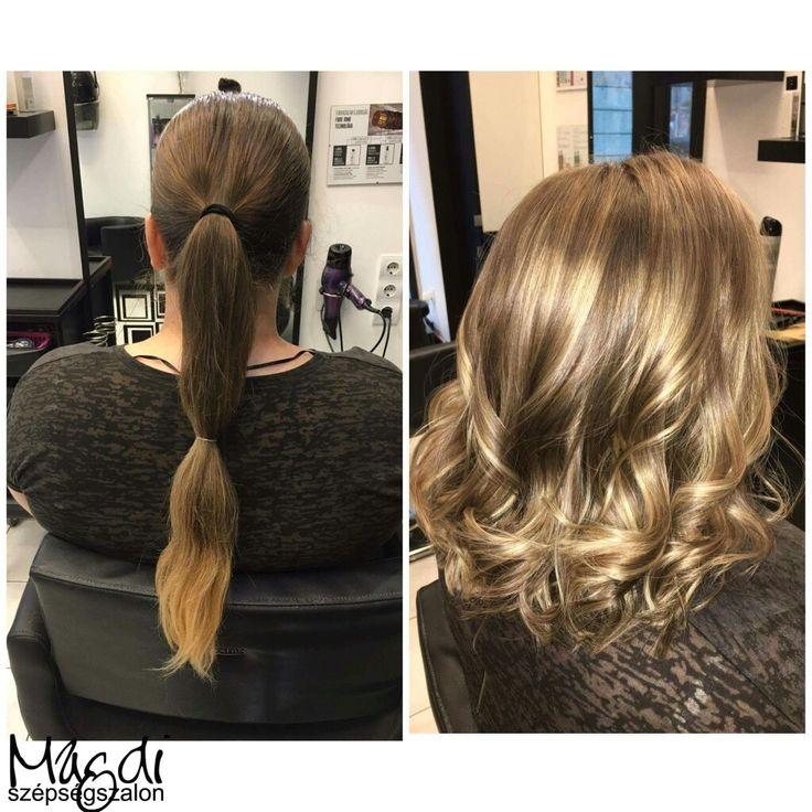 Alexandra, festése és vágása.Micsoda különbség?! :)  #hairstyle #hair #hairfasion #haj #festetthaj #coloredhair #széphaj #szépségszalon #beautysalon #fodrász #hairdresser #ilovemyhair #ilovemyjob❤️
