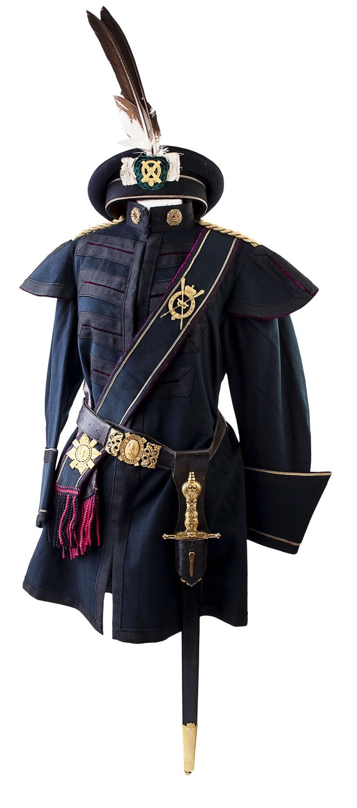 Uniform of the Royal Company of Archers, the bodyguard to the monarch when in residence at Holyrood.