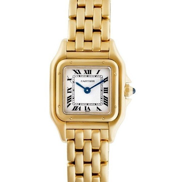 Pre-owned Cartier Panthere W25022B9 18K Yellow Gold Womens Watch ($7,290) ❤ liked on Polyvore featuring jewelry, watches, gold wristwatches, 18k gold jewelry, cartier watches, pre owned jewelry and 18k jewelry