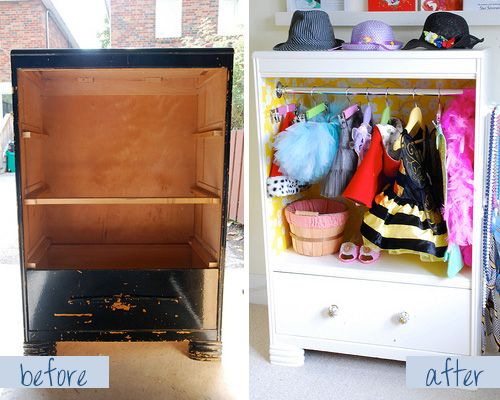 Furniture Makeovers: Before And After. Kids Dress Up Closet