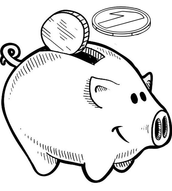Toy Story Piggy Bank Coloring Page