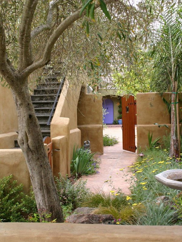 12 best adobe casita images on pinterest for Adobe house plans with courtyard