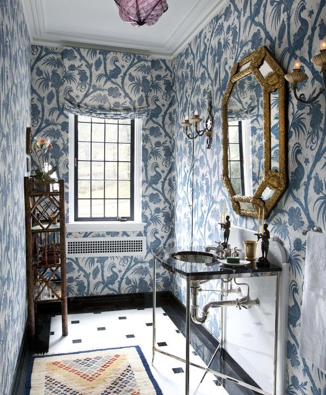 Lovely Blue Powder Room