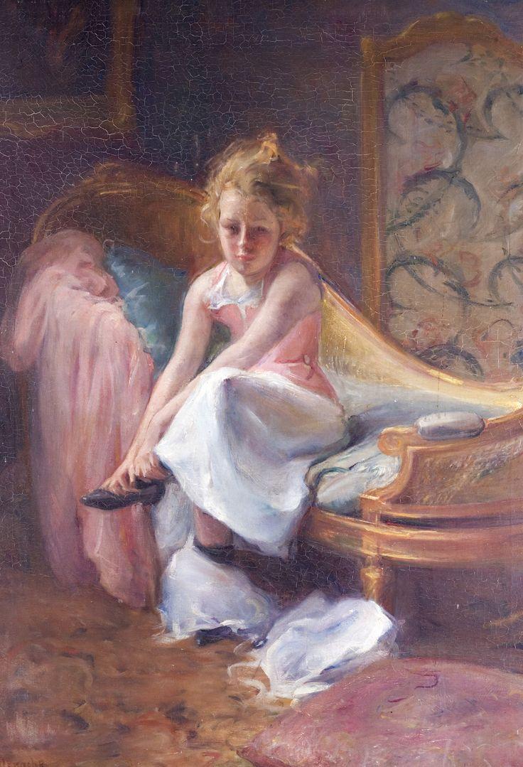 Le déshabillé d'Yvette - Albert de Belleroche - Huile sur toile - Musée d'Art et d'Histoire - © Culturespaces