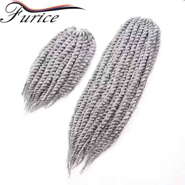 havana mambo twist crochet braid 12-24inch Grey Short Crochet Twist