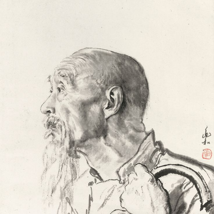 Jiang Zhaohe 1904-1986 signed ZHAOHE, and with one seal of the artist   ink on paper, hanging scroll 44.3 BY 41.9 CM. 17 1/2 BY 16 1/2 IN.