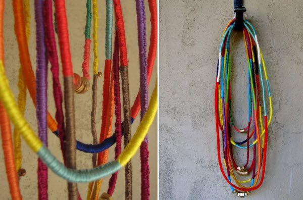 Friendship necklaces and necklaces and necklaces....