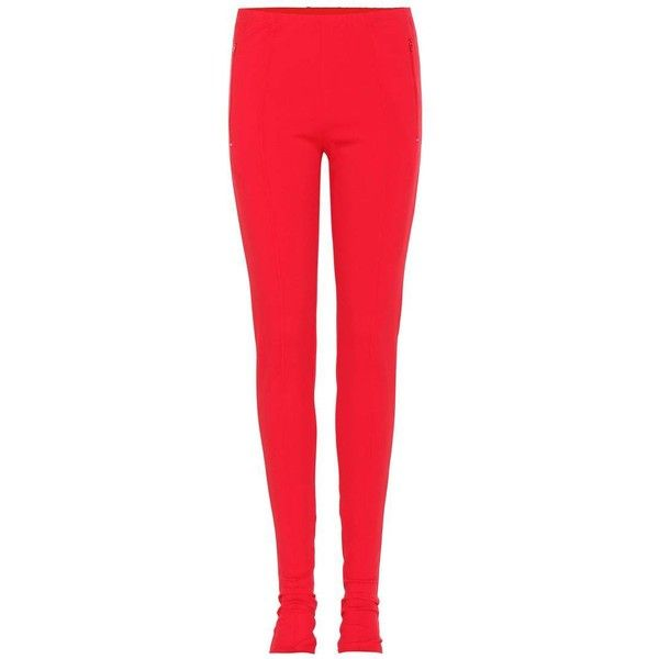 Balenciaga Skinny Trousers (13.025 ARS) ❤ liked on Polyvore featuring pants, capris, red, red pants, skinny pants, red skinny pants, red trousers and skinny trousers