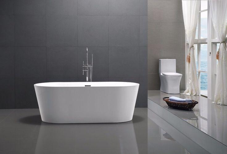 BERNSTEIN Design Badewanne Freistehende Wanne MIO ACRYL nahtfrei Armatur | Heimwerker, Bad & Küche, Badewannen | eBay!