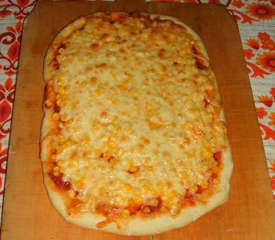 Élesztő nélküli kukoricás, sajtos pizza | Egészséges ételek - egészségesen elkészítve