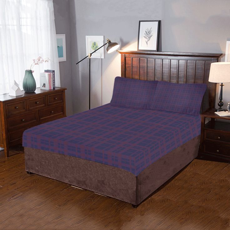 Purple Plaid Rock Style 3-Pieces Bedding Set by  Scar Design. #bedroom #bedroomset #duvet #quilt #beddingset  #quiltcover  #bedding #3piecesbedroomset #pillowcases #bed #home #homedecor #rockstyle #punkrock #rock #punk #artsadd #scardesign #onlineshopping #shopping #family #style #39 #art #design #purple #purpleplaid #plaid #pattern #gifts #giftsforhim #giftsforher