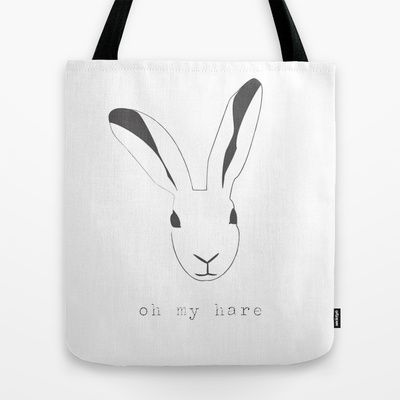 Oh my hare! Tote Bag by radis - $22.00