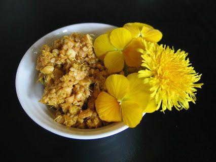 Jetzt wird´s höchste Zeit für  Brennhilds Honig-Blüten-Pesto: 100g geröstete und gesalzene Erdnüsse 1 gestr. El Honig die Blütenblätter von 5 großen Löwenzahnblüten und die Blütenblätter von 5 duftenden gelben Hornveilchen mörsern - und fertig ;) Birgit Brinkmann – Google+