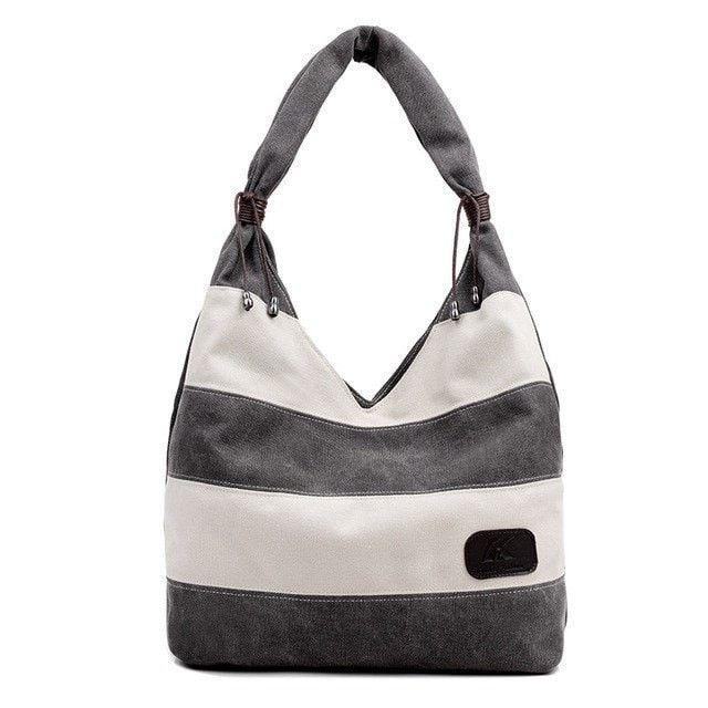 Casual Summer Stripe Ladies Tote Handbag 5 Colors