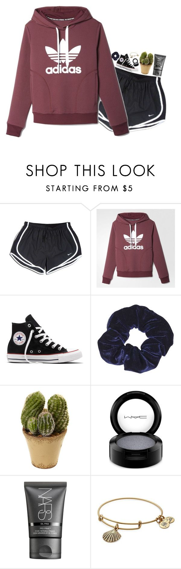 """""""rewatching greys"""" by xoxorachelizabeth ❤ liked on Polyvore featuring NIKE, adidas, Converse, Topshop, MAC Cosmetics, NARS Cosmetics and Alex and Ani"""