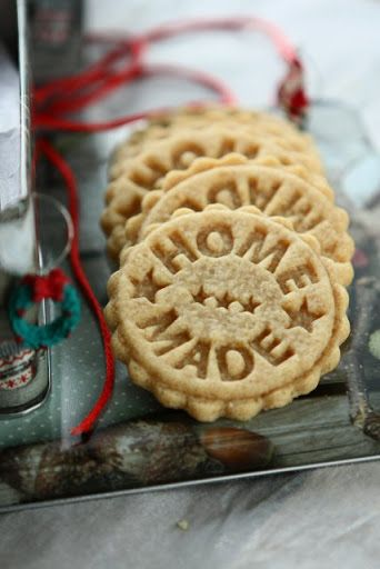 Peanut Butter Spelt Homemade Stamped Cookies - would make cute ornaments too!