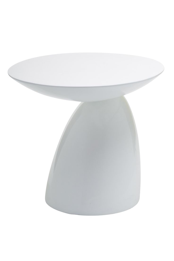 Replica Eero Aarnio Parabel Side Table - White --  Eero Aarnio designed this sculptured side table in 2002, the Parabel Table. Our inspired replica table is a beautiful minimalist deco piece to suit all homes.   This Replica Parabel side table is made of fiberglass, and is a solid one piece item (no assembly required). The rounded curves make this retro table suitable as either a side table, small coffee table or funky bedside table in the guestroom.  Also available in orange or ...