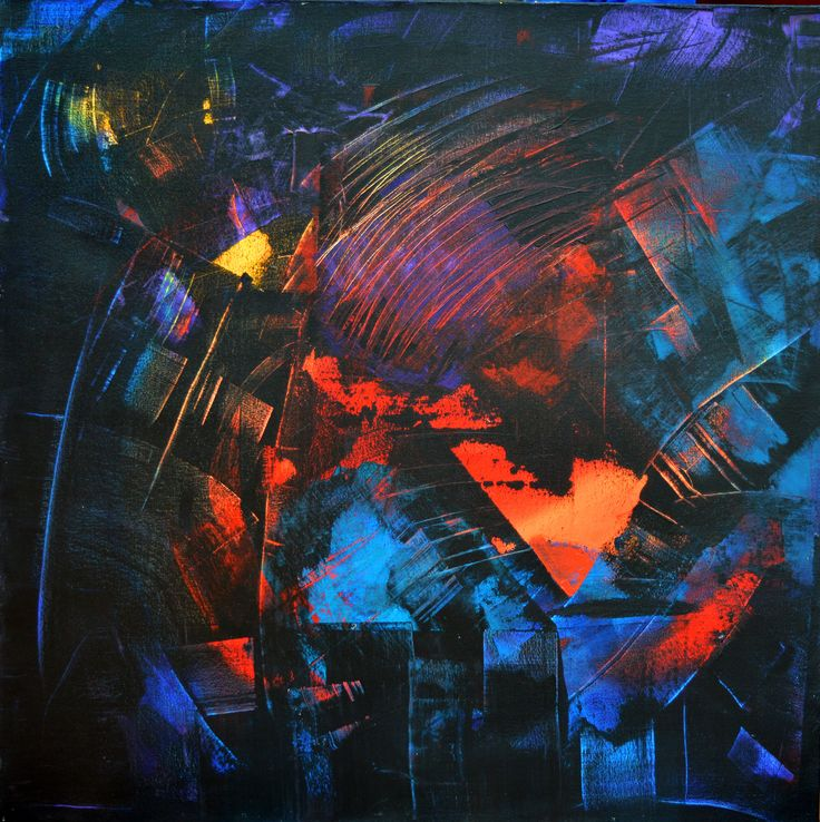 """'Breaking Through' by Uxbridge Ontario painter Carolyn Bather. """"There is an…"""