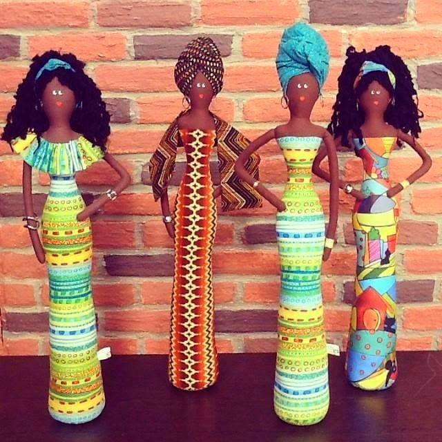 Atelie Cantinho DA ARTE: BONECAS AFRICANAS DE TECIDO