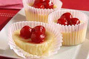 Cupid's Cherry Cheesecakes. Simple, 5 ingredient recipe.