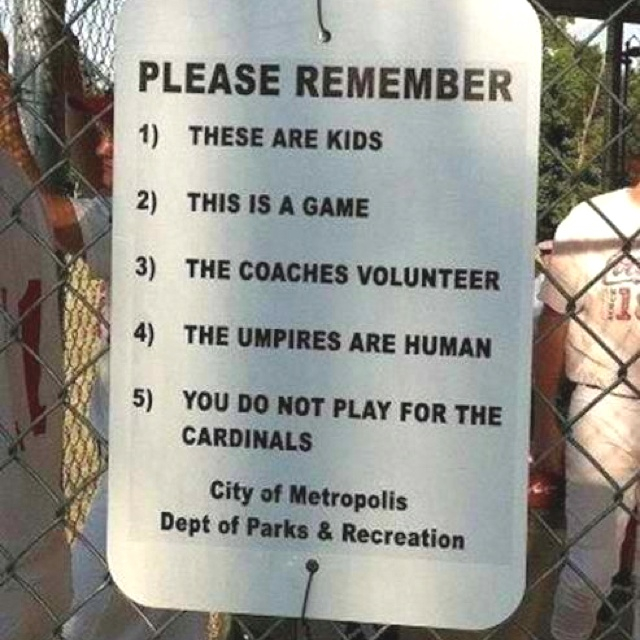 Please Remember... (I wish there were signs like this at ALL events!)