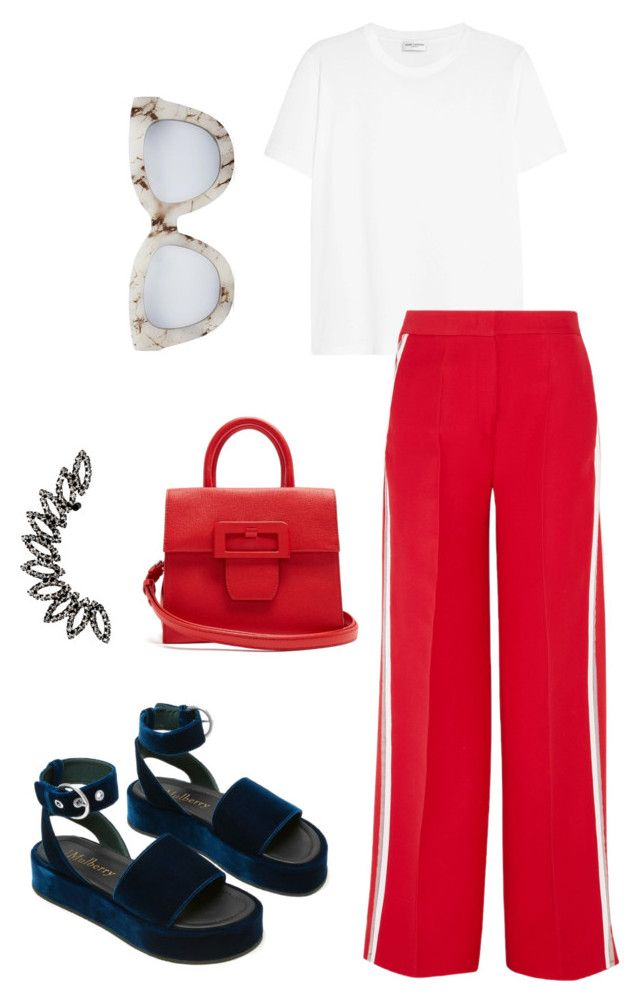 """Casual Friday"" by trend-anonymous on Polyvore featuring Yves Saint Laurent, Fendi, Quay and Maison Margiela"