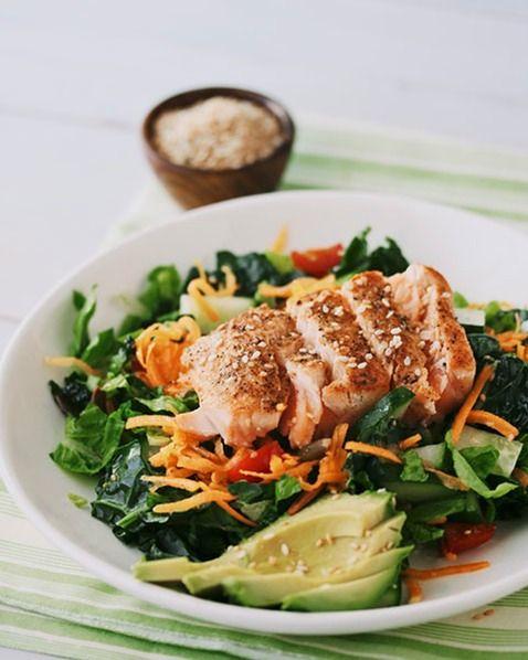 Salmon Salad with Lime Vinaigrette