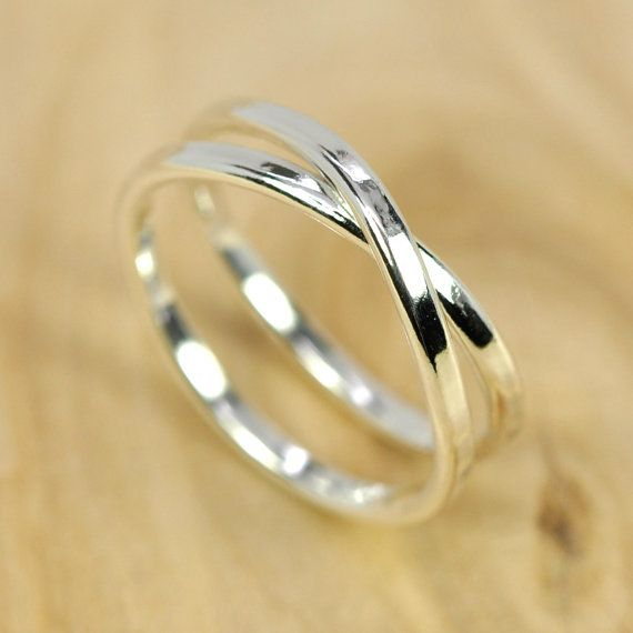 Infinity Ring Pure Silver Unique Style Infinity Ring, Eco Friendly Recycled Silver Ring, Sea Babe Jewelry
