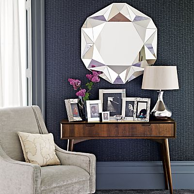 Theatre: John Lewis Facet round mirror #home