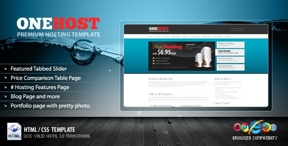 OneHost Preimum Hosting + Portfolio Template   http://themeforest.net/item/onehost-preimum-hosting-portfolio-template/64942?ref=damiamio             This site is best suitable for a Hosting Business, Company, Blog, Portfolio, or freelancer portfolio website as well. For a Navigation Colors and Content Background Color Settings Please follow steps provided in PDF Help file. Most part you can just follow the HTML with commented codes.  Main Features   The home page includes a tabs panel with…