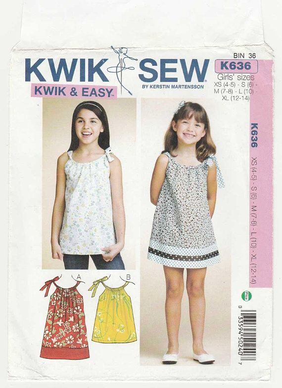 Girl\'s Sleeveless Dress and Pullover Tunic Top Sewing | Children\'s ...