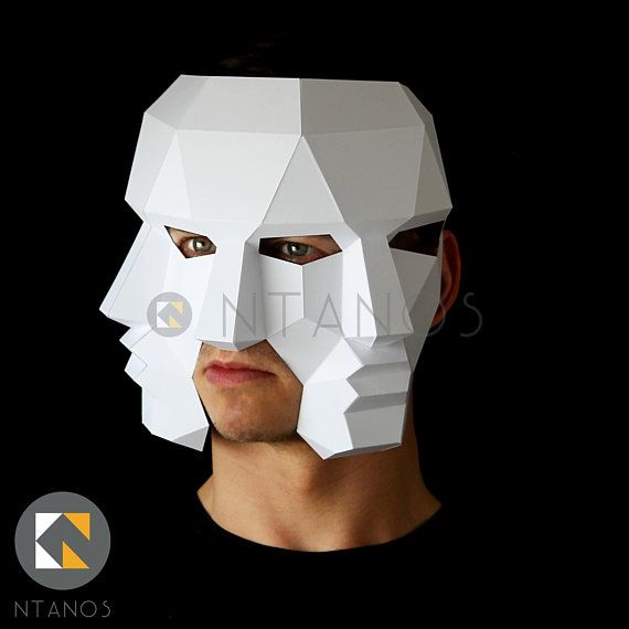 Three Face Mask Make This 3d Mask With This Pdf Download And Card Mask Making Image Paper Animal Masks