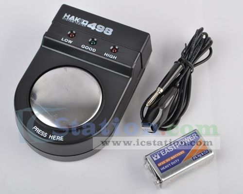 Antistatic Wrist Strap Tester w/ Built-in LED Indicator TGK-498  http://www.icstation.com/product_info.php?products_id=1181