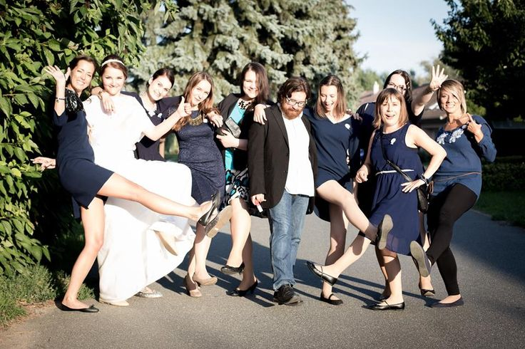 Nice bride and her bridemaids and DJ