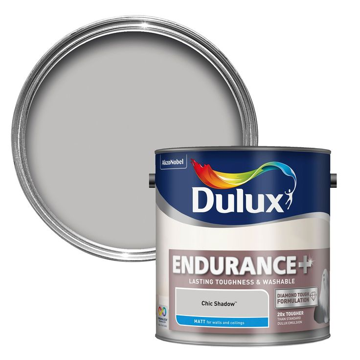 Dulux Endurance Chic Shadow Matt Emulsion Paint 2.5L | Departments | DIY at B&Q