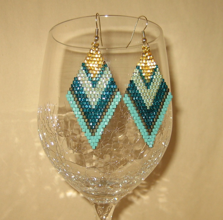 Brick Stitch Earrings!  Make with wire