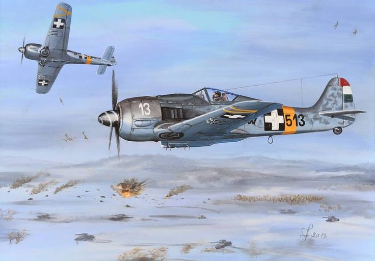 Hungarian Fw-190 F-8 fighters