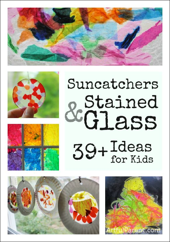 39+ Suncatchers and Stained Glass Ideas for Kids