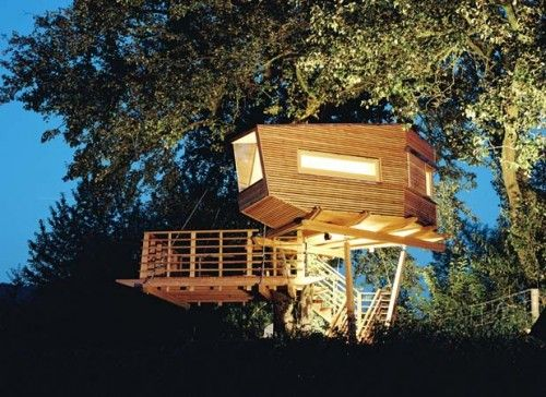 Best Tree Houses Images On Pinterest Amazing Tree House - Contemporary banyon treehouse california